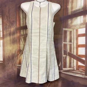 Rag & Bone linen mini dress striped sleeveless 4